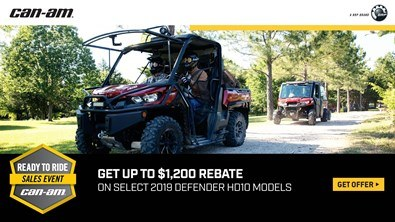 Can-Am - Ready To Ride Sales Event - Defender Models